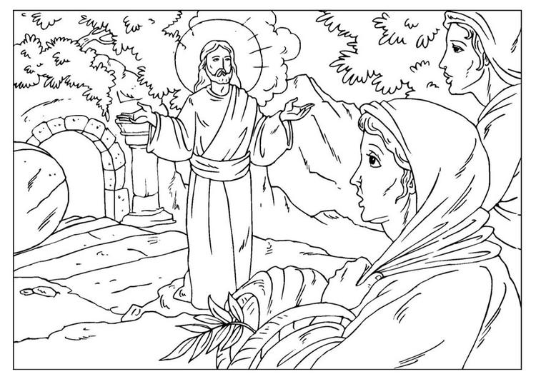página para colorir ressurreição de jesus img 25921