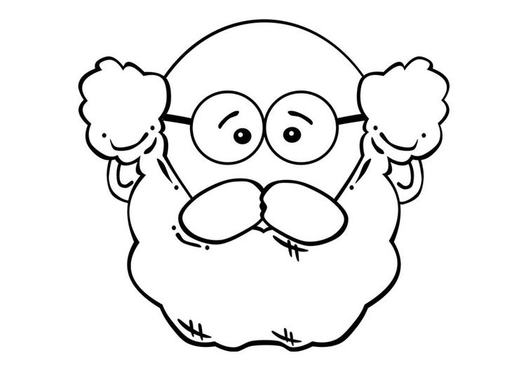 Line Art Wajah : Página para colorir rosto de homem img