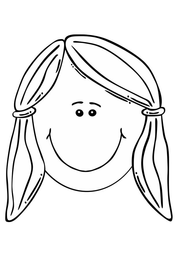Face Coloring Page  GetColoringPagescom