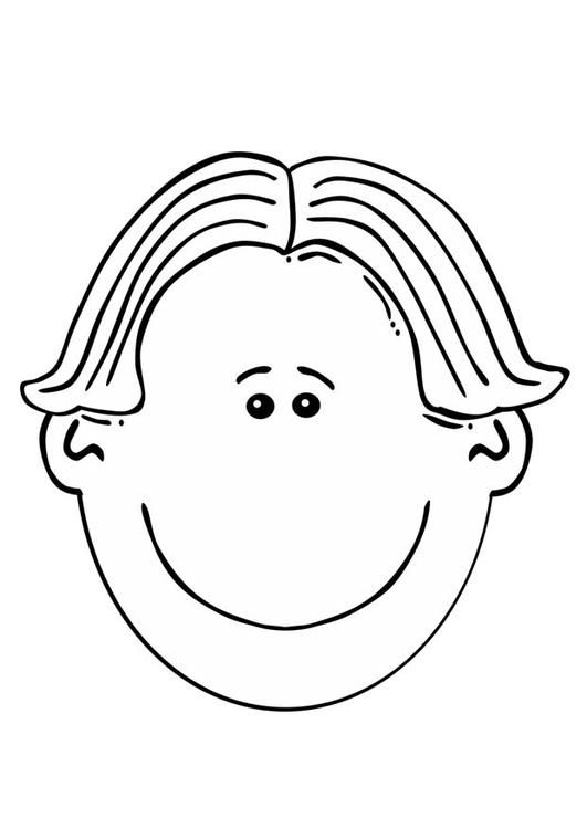 página para colorir rosto de menino img 17087