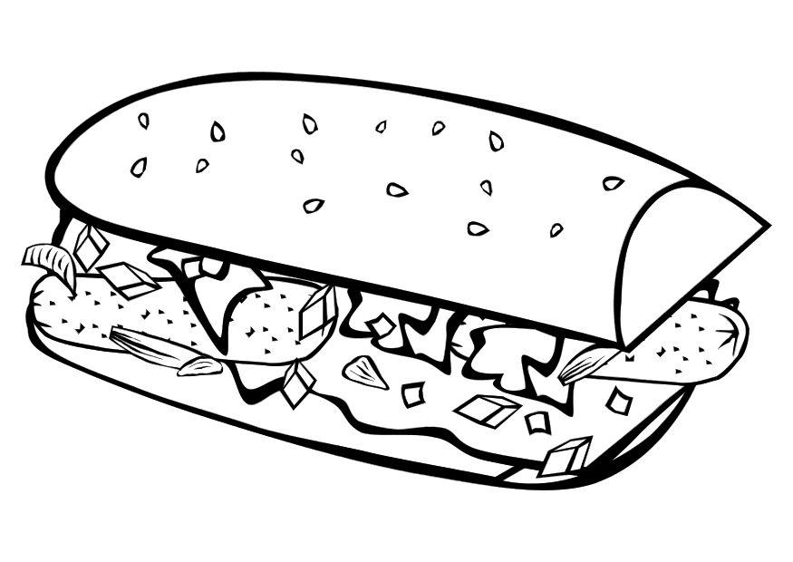 coloring pages images sandwiches - photo#13