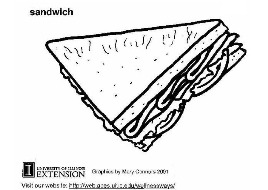 Página Para Colorir Sanduiche