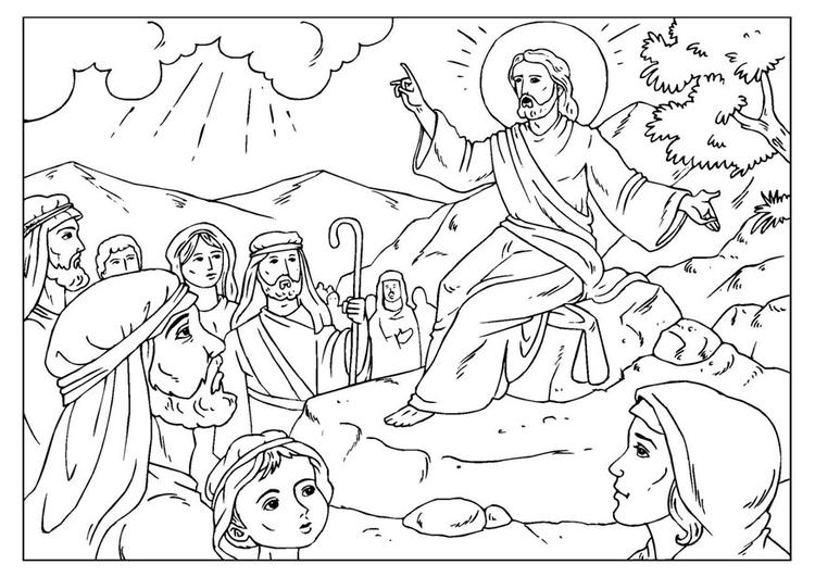 Resultado de imagem para sermão da montanha para colorir