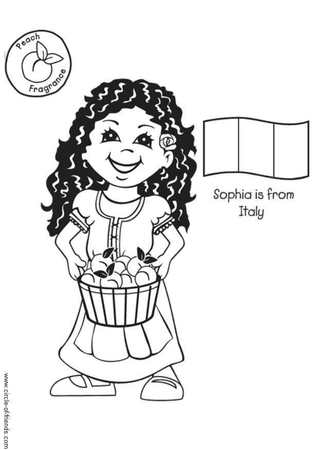 Lujo Páginas Para Colorear De Italia Para Niños Composición ...