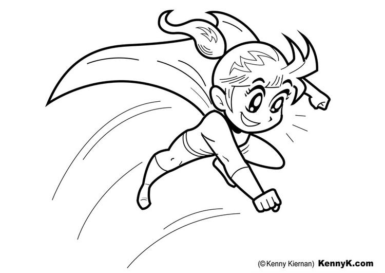 Página Para Colorir Super-herói