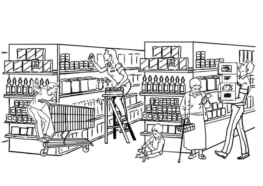 P gina para colorir supermercado img 7878 for Disegni di addizione garage