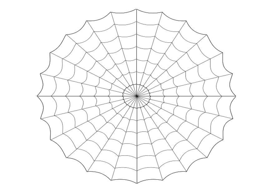 Página Para Colorir Teia De Aranha