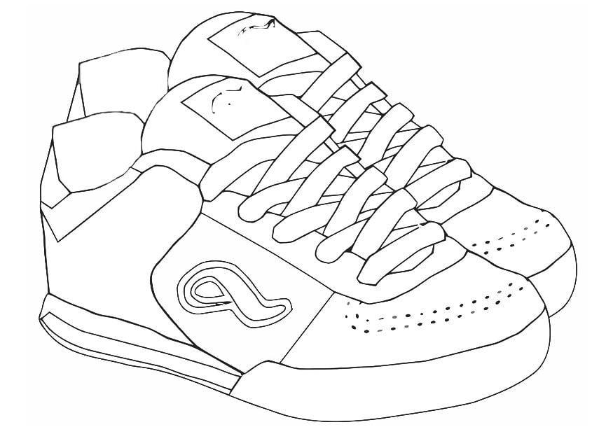 página para colorir tênis img 19418