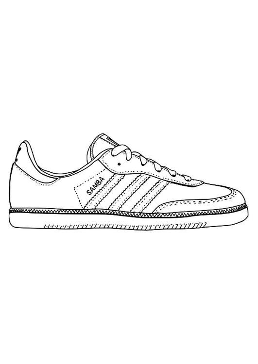 página para colorir tênis img 29484