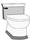 Página para colorir toilete