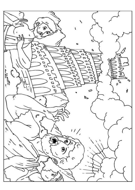 p u00e1gina para colorir torre de babel