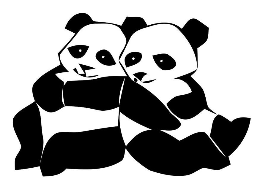Página Para Colorir Ursos Pandas