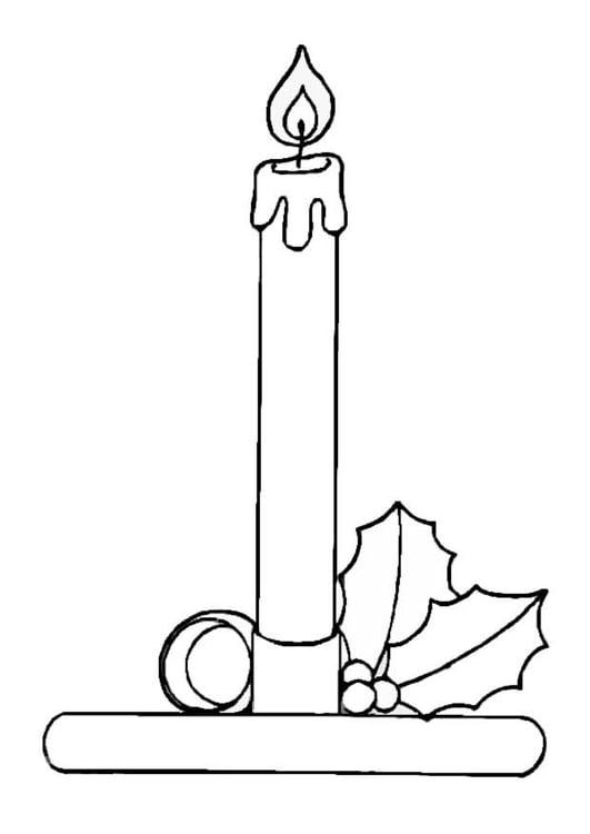 página para colorir velas de natal img 8655